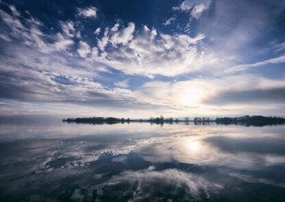 Bodenseespiegelung Kunstdruck