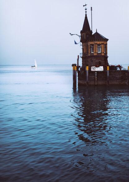 Konstanzer Hafen Kunstdruck