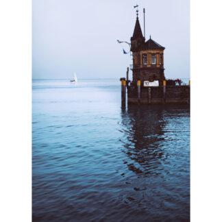 Konstanzer Hafen Postkarte